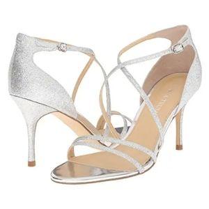 Shoes - IVANKA TRUMP GARIS2 STRAPPY SILVER HEEL 7